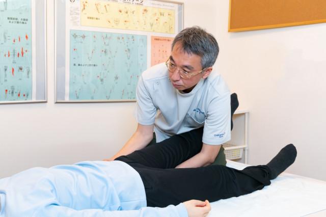 骨盤と大腿骨の位置調整